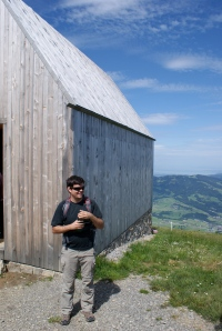 Gernot on the Vordere Niedere, Bregenzerwald, Austria