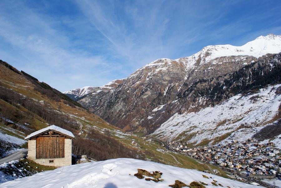 view outwards Valser valley