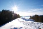 beautiful day on a winter hike
