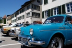 oldtimers in front of one of Stein am Rheins Hotels